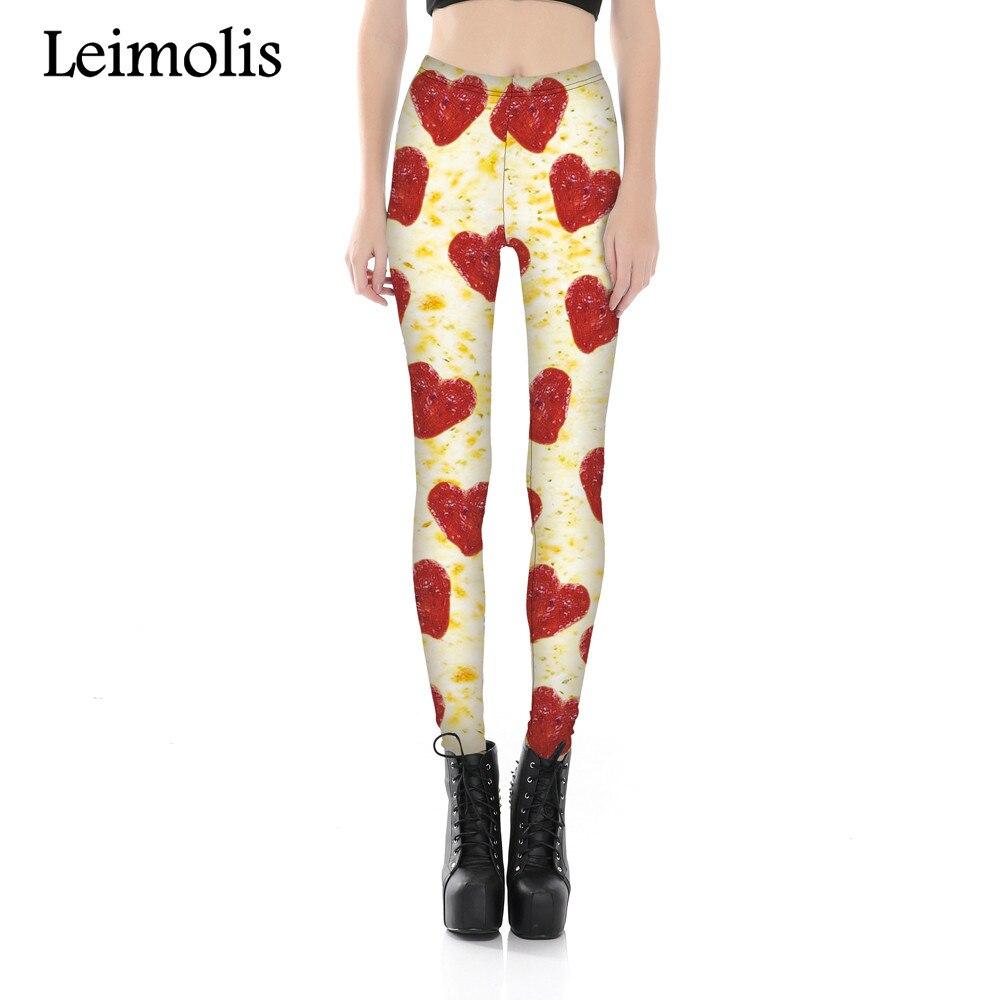 Leimolis 3D printed fitness push up workout leggings women Pizza heart plus size High Waist punk rock pants leimolis 3d printed fitness push up workout leggings women cartoon comics alice and cat plus size high waist punk rock panties