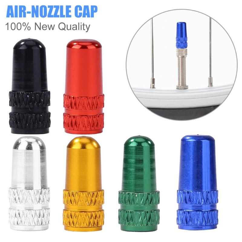 Aluminum Alloy MTB Bicycle Tire Gas Nozzle Valve Caps Cycling Dust Cover