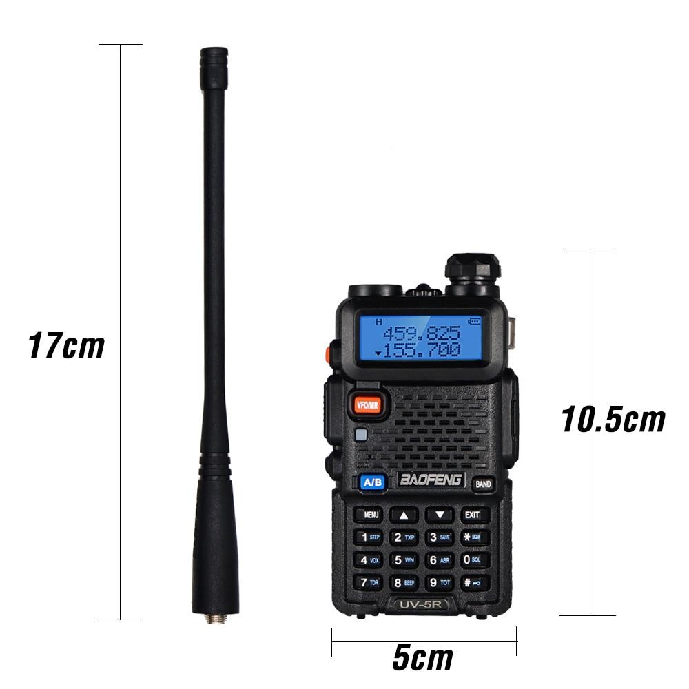 2pcs Real 8W Baofeng UV-5R Walkie Talkie UV 5R High Power Amateur Ham CB Radio Station UV5R Dual Band Transceiver 10KM Intercom enlarge