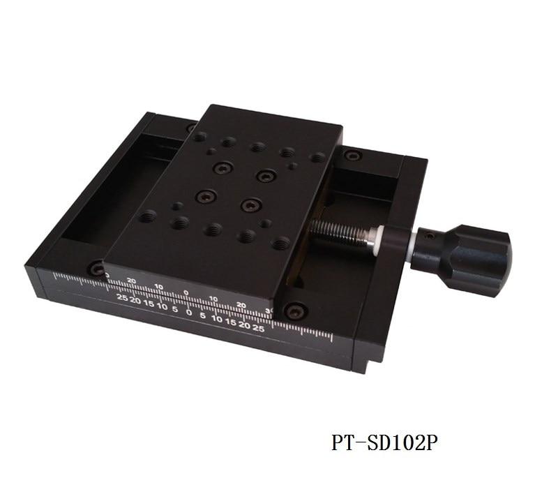 PT-SD102P/PT-SD102PS دليل الترجمة المرحلة 50mmX-axis انزلاق مرحلة الترجمة المرحلة مرحلة الجوالة ، الدقة الجدول مع قفل