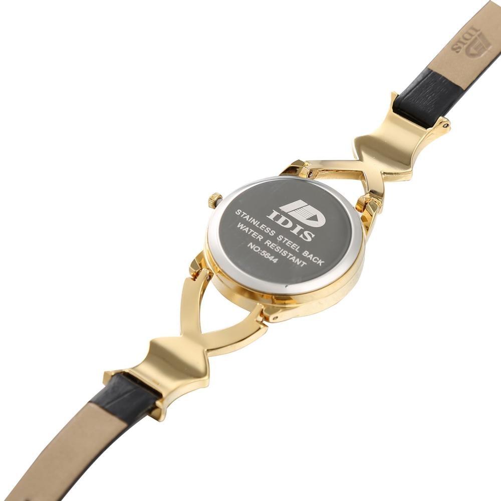 Logo IDIS New Style leather watch fashion quartz women Ladies female student watch fashion designer Wristwatches enlarge
