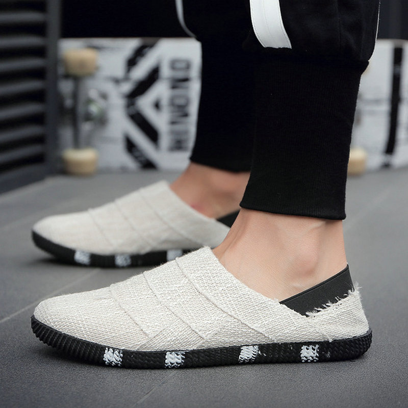 2020 New Summer Ethnic Style Men Espadrille Casual Flats Comfortable Shoes Canvas Driving Loafers Flats Hemp Insole Shoes