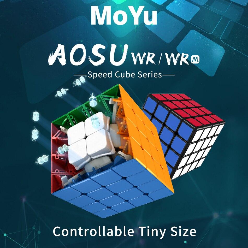Original MoYu aosu WR M 4x4x4 Cubo de 59mm cubo mágico magnético rompecabezas profesional WR M Speed Cube juguetes educativos Niño para adultos