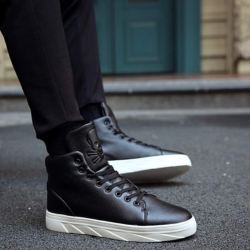 2021 New Autumn and Winter British Style Sports Casual Fashion Sneakers High-top All-match Trend Hip
