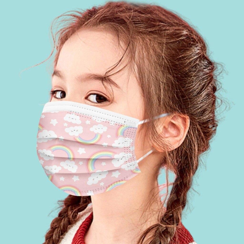 Mascarilla desechable de 3 capas para niños, máscara transpirable a prueba de...