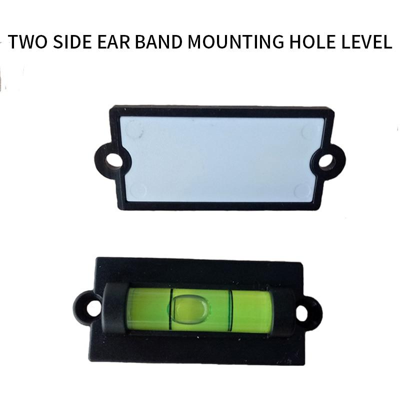 Junejour mini nível de bolha espírito pequeno com furos de montagem ferramenta nível de água rv phonographl nível padrão