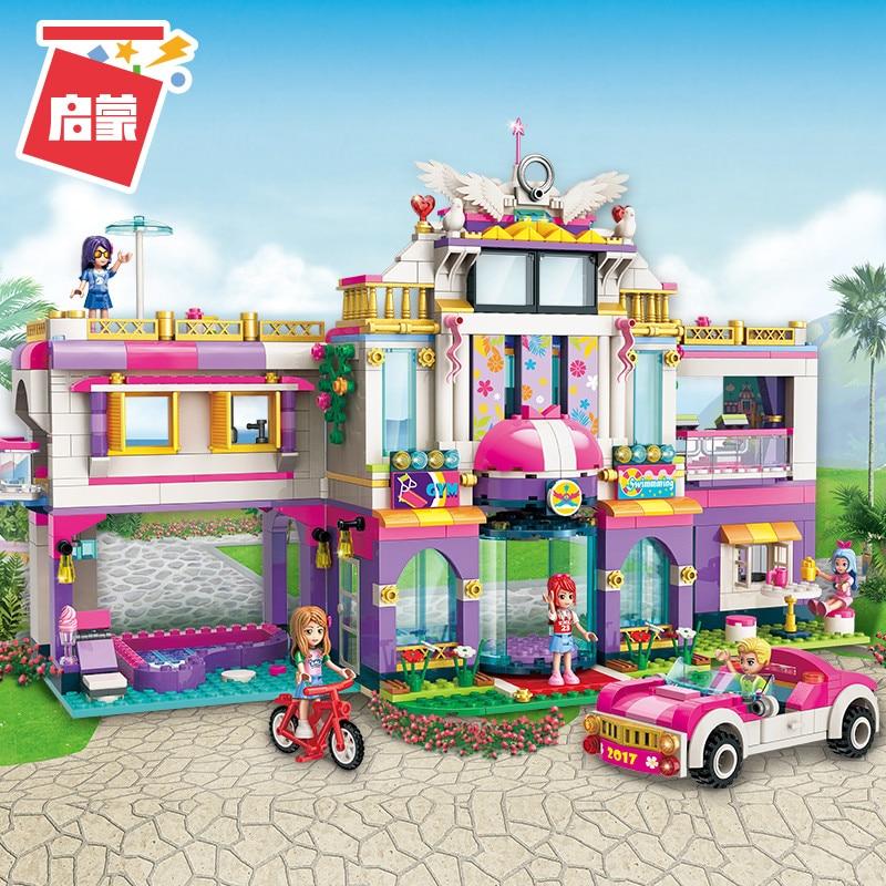 ENLIGHTEN Girls City Friends Princess Fantasy Carousel Colorful Holidays Building Blocks Sets Kids Toys Compatible lepinings