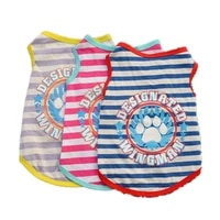 summer cool pet clothing dog vest striped dog paw design individuality puppy clothes dog accessories yorkshire terrier clothes