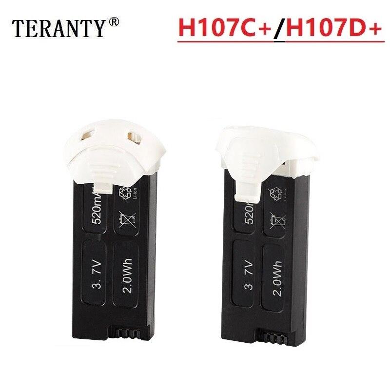 Original batería de repuesto para la batería de Hubsan X4 Cam Plus H107D + H107D-H107C + H107C-3,7 V batería de 520mAh Lipo por Hubsan H107D H107C