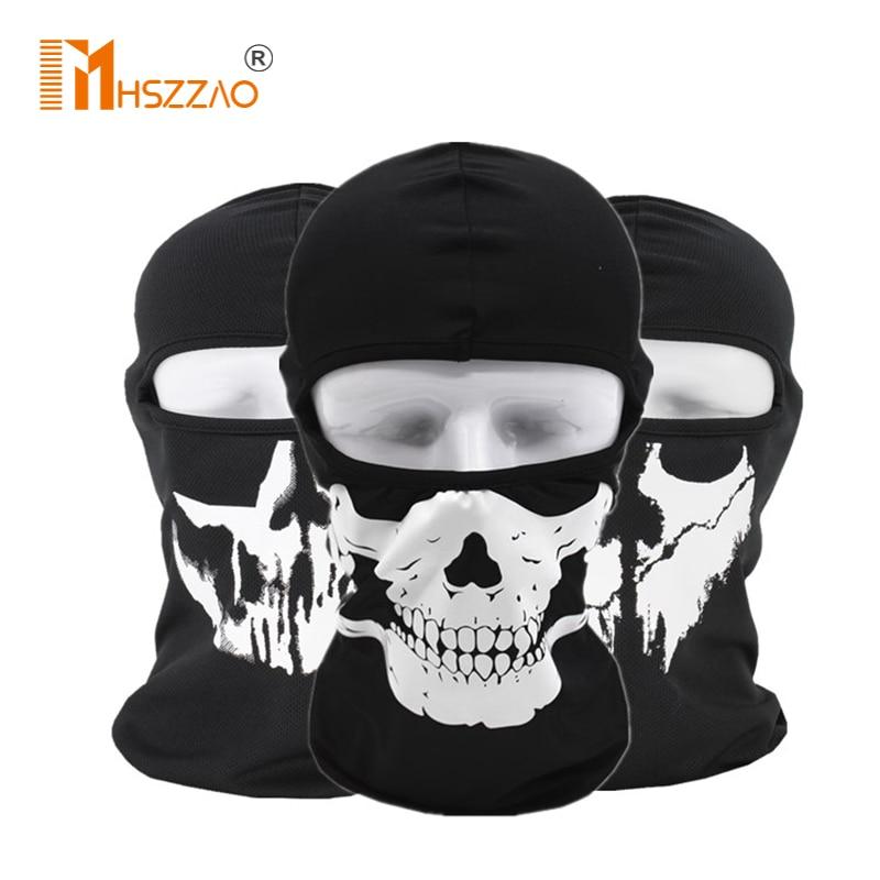 Мотоциклетная маска унисекс, тактическая маска для лица, маска для туши, Лыжная маска, маска на все лицо, Гангстерская маска