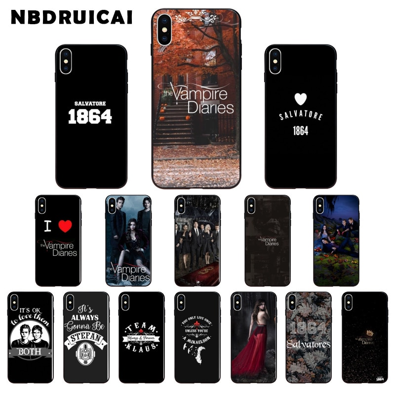 NBDRUICAI The Vampire Diaries Stefan Damon Salvatore Phone Case Cover for iPhone 11 pro XS MAX 8 7 6 6S Plus X 5 5S SE XR case