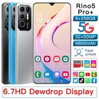 hot sale 2021 rino5 pro mtk6889 10 core 6 7inch smartphone 14403200 5g mobile phone 8256g 32mp50mp 6800mah android 11