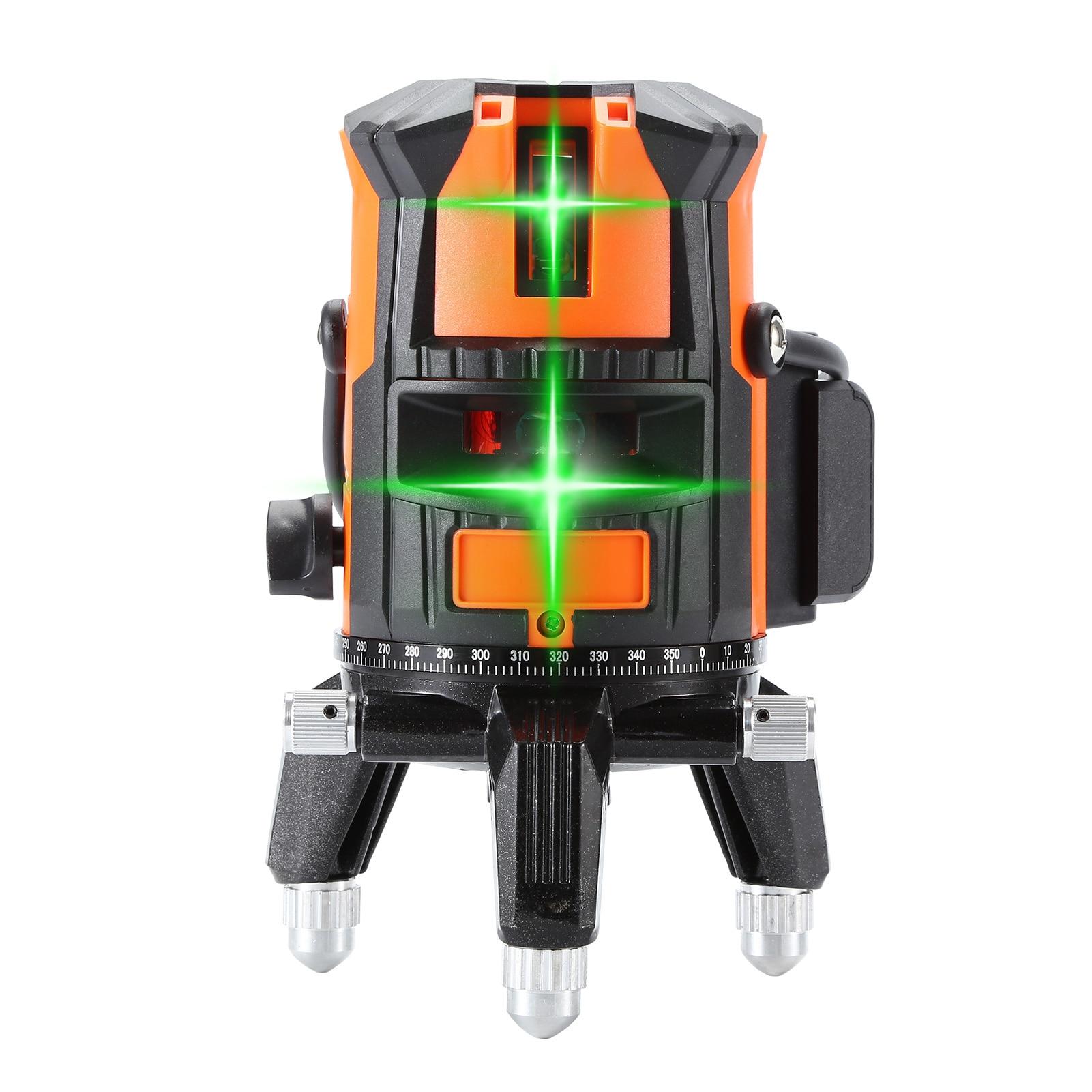Horizontal e Vertical do Laser das Linhas Verdes do Laser do Nível Giratória do Auto-nivelamento do Laser Nível Linhas Pontos 360 Linha 5 6