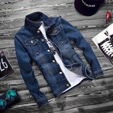 MAGGIES WALKER col rabattu simple rangée bouton haute qualité sport décontracté Vintage Jean veste solide couleur M-2XL