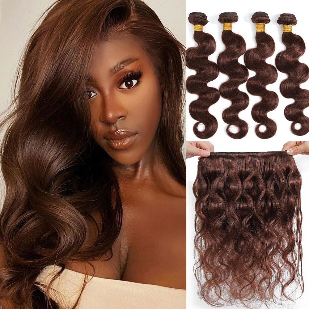 Brazilian Body Wave Hair Weave Bundles Natural Black Color 100% Human Hair Extension 10''-30'' Bundles Remy Hair Weaving
