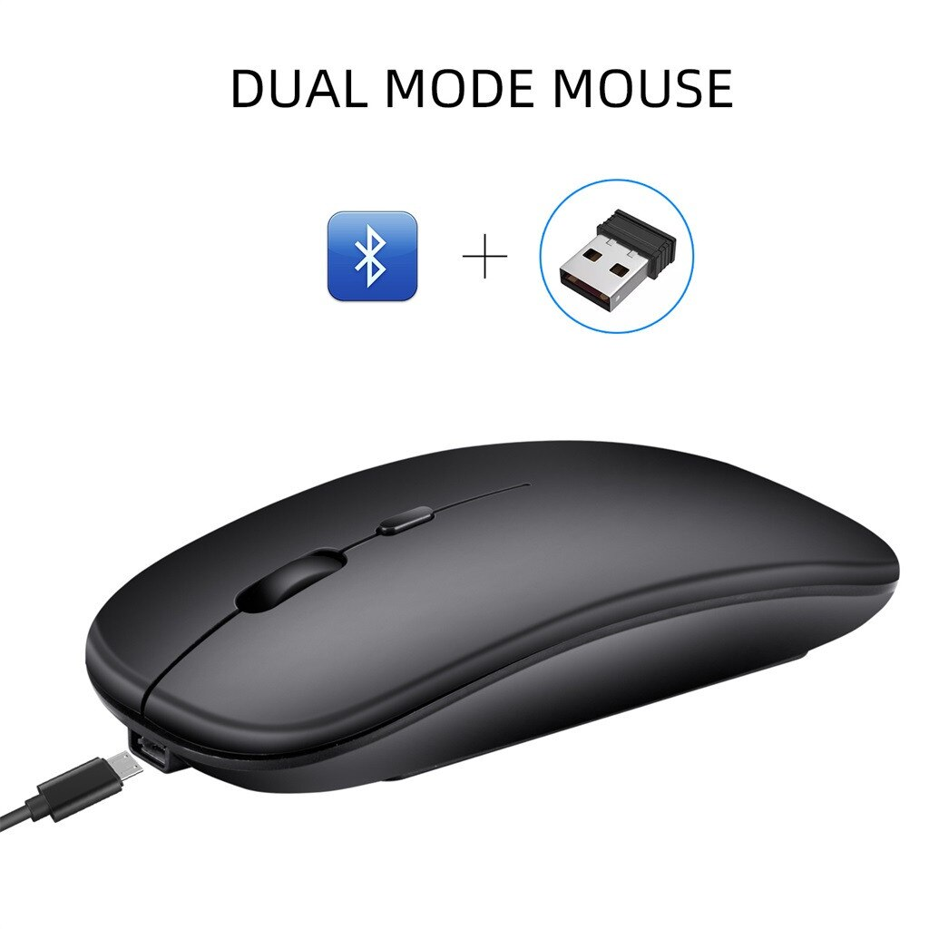 Modo Dual 5,0 Bluetooth y 2,4 GHz USB Nano receptor ratón inalámbrico para ordenador portátil 1600 DPI ratón para juegos ratones silenciosos