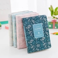 fashion kawaii office for school 2021 pu simple squared notebooks monthly planner books korea nice personal diary
