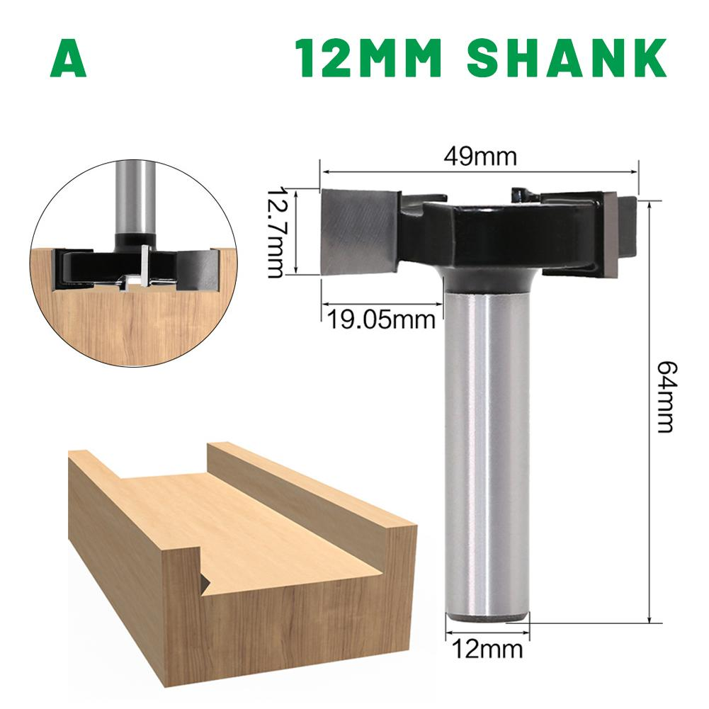 "Cnc roteador bit 1/2 ""shank 12mm shank carpintaria cortador tenon cortador achatamento roteador bit para madeira ferramentas de cortador"