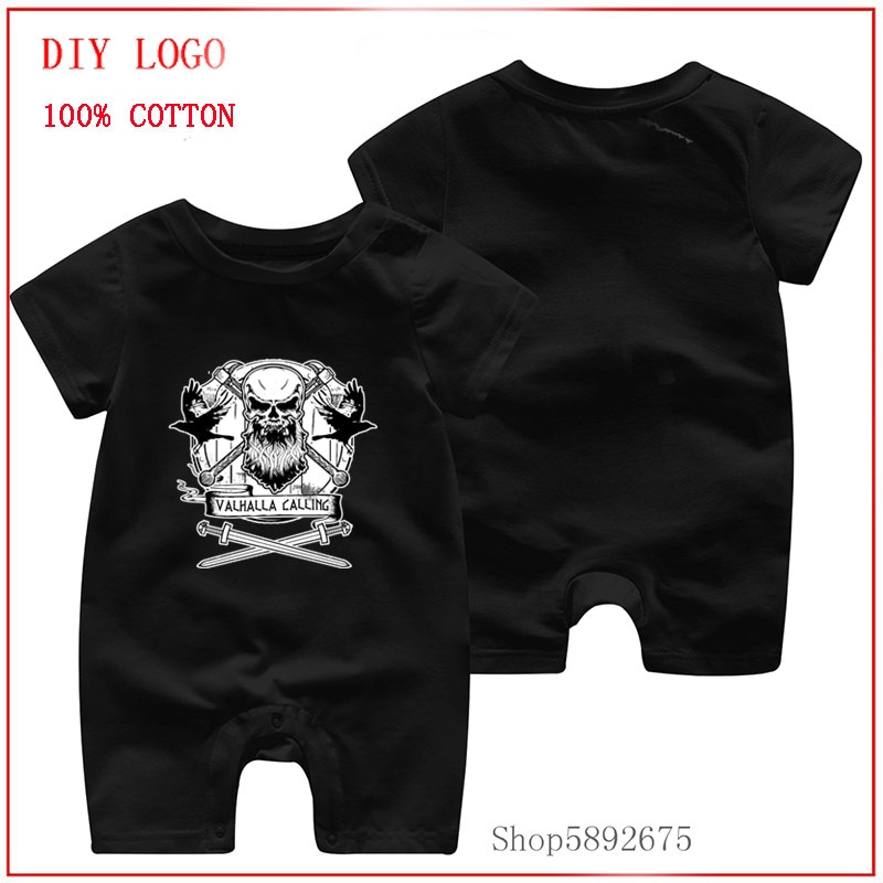 Summer baby romper short sleeve rompers newborn baby clothes Valhalla Calling Devil Kids Baby Clothi
