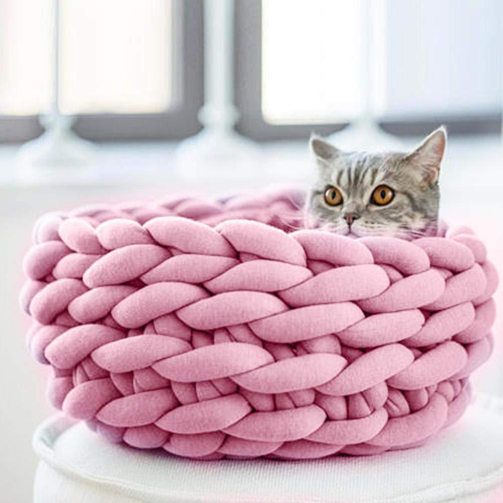 Super suave lana gruesa hilo grueso DIY Roving manta tejida a mano bufandas sombreros tejido mascotas nido almohadas No pilling
