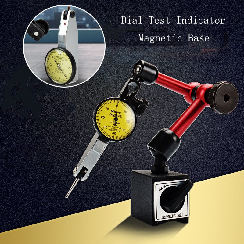 0-0,8mm de alta precisión palanca indicador Dial prueba Universal Flexible Dial prueba indicador Base magnética soporte manómetro