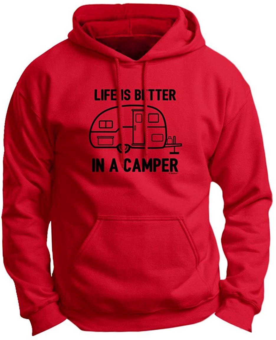 La vida es mejor en una Camper Camping RV Irving Premium Sudadera con capucha hombres mujeres Sudadera con capucha