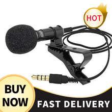 Мини микрофон конденсаторный клип-на лацкане петличный микрофон проводной для телефона ноутбука для телефона портативный мини стерео HiFi к...