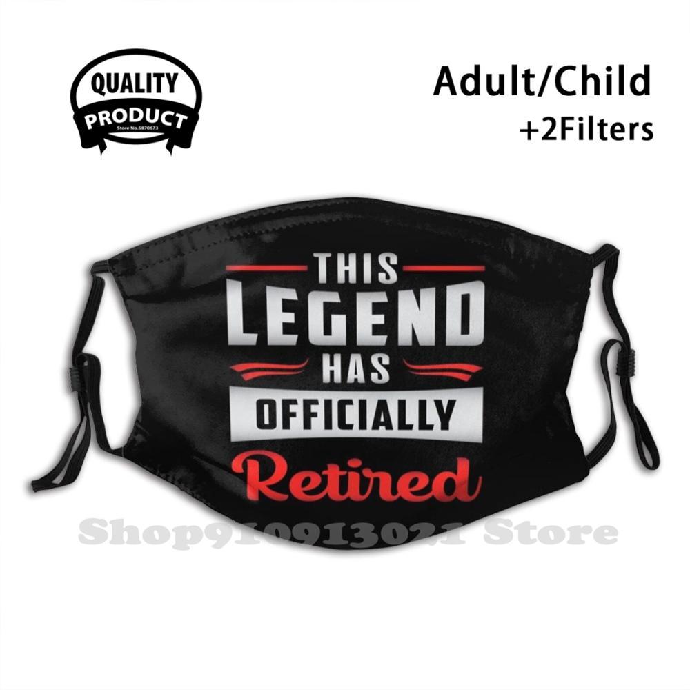 Pensioner Pension Grandpa Grandma Retirement Gift Face Mask With Filter Warm Mouth Mask Retire Retirement Retired Funny Humor