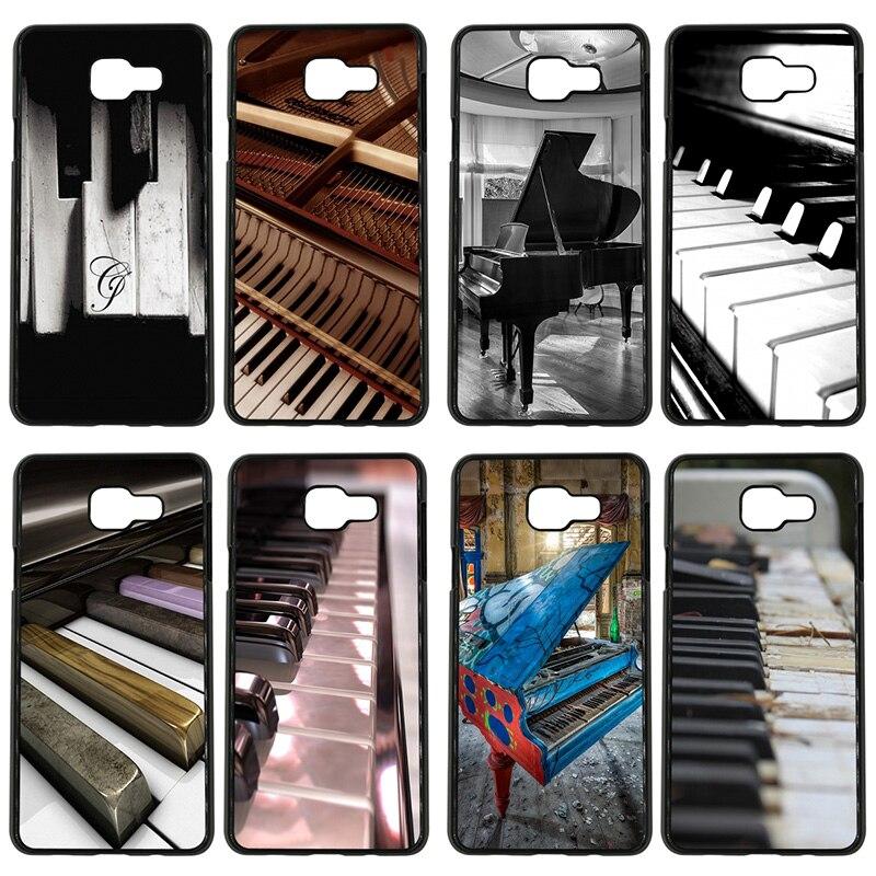 Funda de teléfono móvil de Piano con Software musical carcasa de plástico duro para Samsung Galaxy S8 S9 Plus S3 S4 S5 Mini S7 S6 Edge Plus