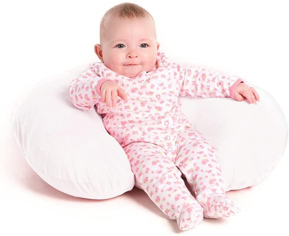Подушка для кормления, белые подушки для грудного вскармливания, изготовлены из мягкого хлопка и дышащего наполнителя, подушки для кормлен...