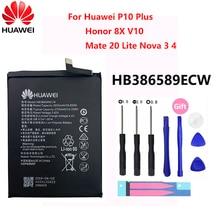 100% dorigine Hua Wei HB386589ECW pour Huawei Honor 8X 3650mAh vue 10 Mate 20 Lite P10 Plus P10Plus Nova 3 4 batterie