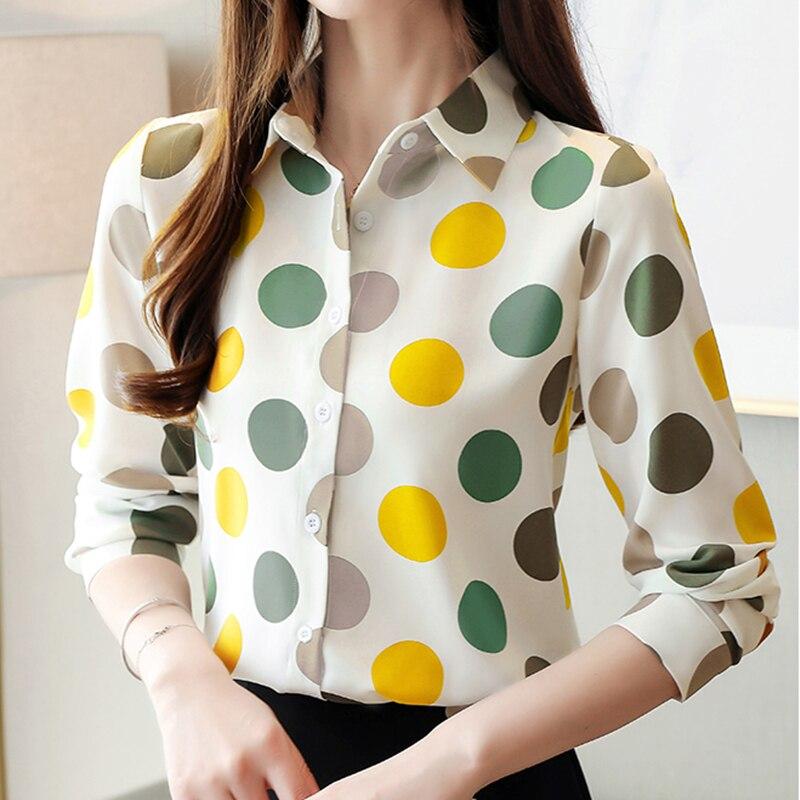 Camisas coreanas De otoño para Mujer, Blusas De chifón para Mujer, blusa De punto, camisa De talla grande, Tops y Blusas para Mujer, Blusas De Moda para Mujer