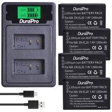 Durapro 1200mAh EN-EL20 EN EL20 Batterie per Foto/Videocamera + LCD USB CARICATORE Doppio Con il tipo C Per Nikon 1 J1 J2 j3 S1 Coolpix A1 AW1 Macchina Fotografica