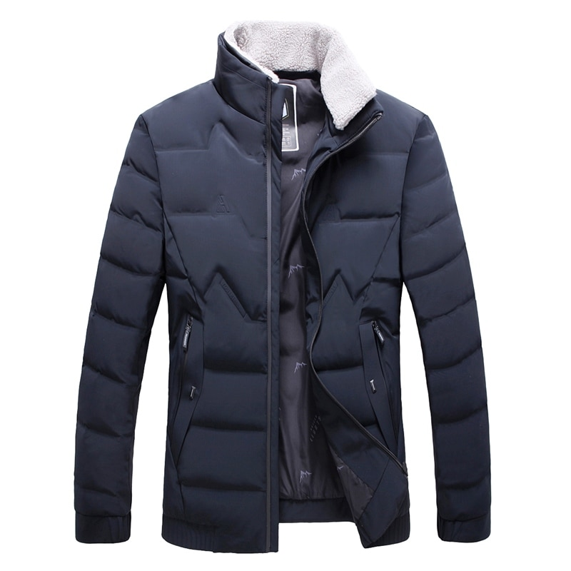 autumn winter men's high-end business casual white duck down jacket mens stand-up collar thick warm jacket windbreaker clothing