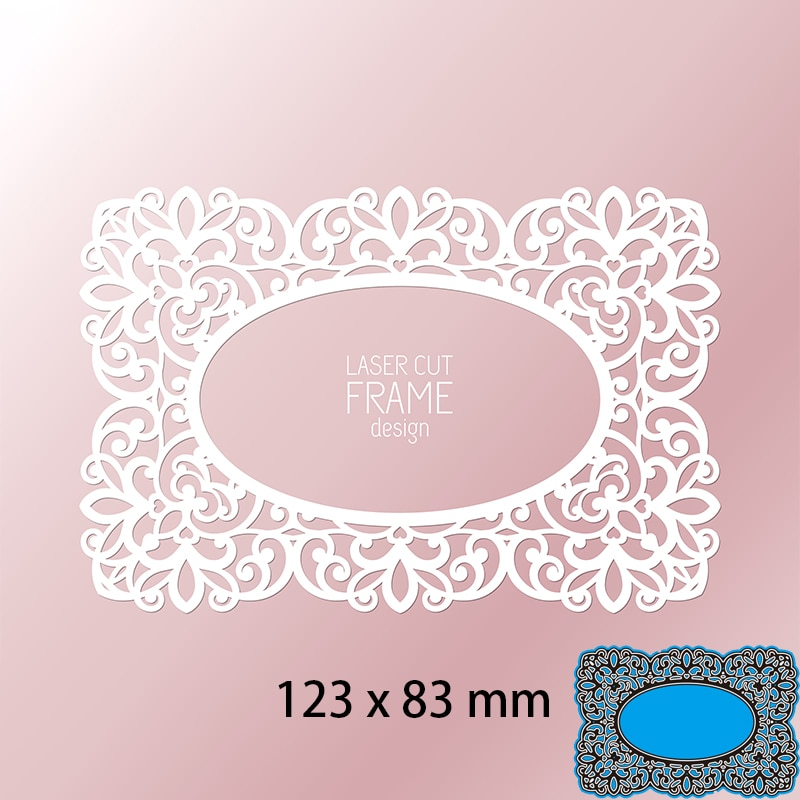 Cutting Dies Hollow Lace Greeting Card  DIY Scrap Booking Photo Album Embossing Paper Cards 123*83mm
