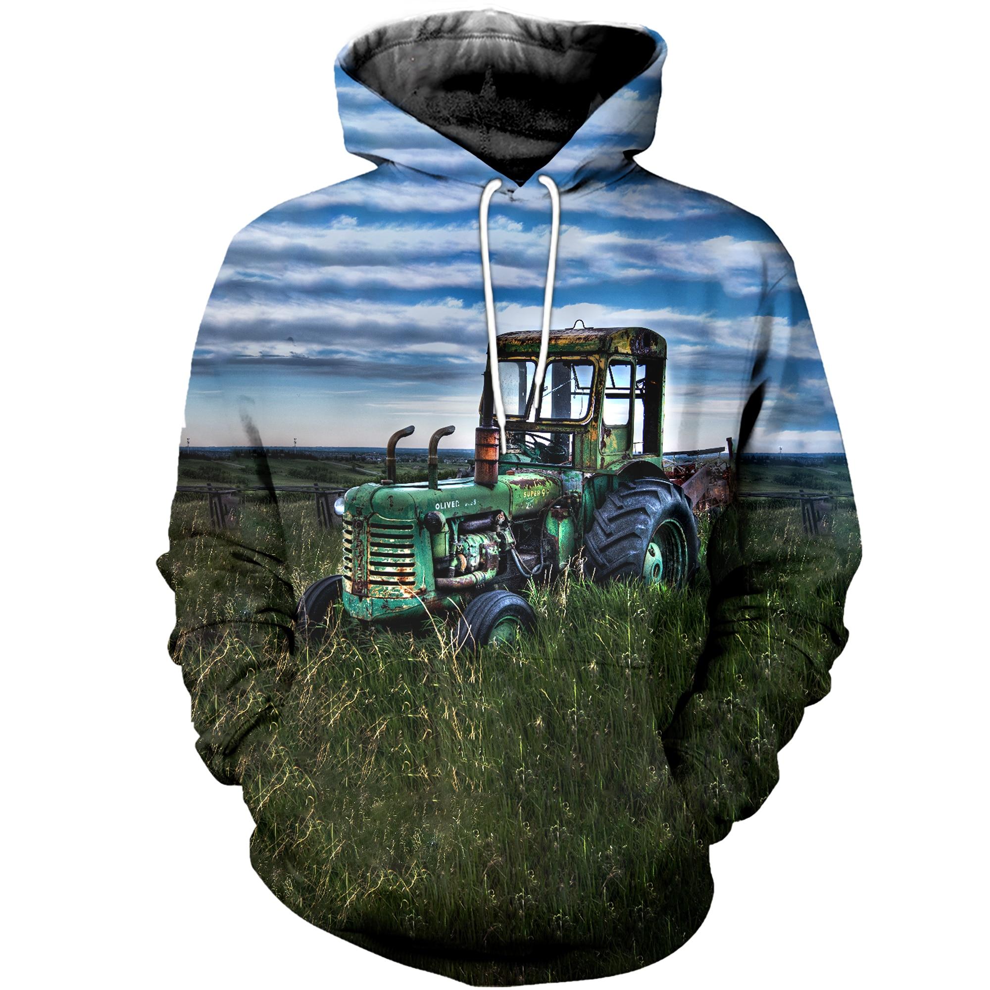 Nueva Sudadera con capucha de manga de tractor 3D casual Jumeast