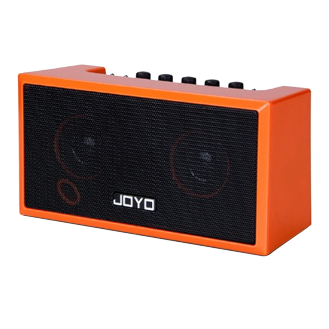 JOYO TOP-GT مصغرة الشعبية خشبية الغيتار مكبر للصوت المحمولة قابلة للشحن بلوتوث المتكلم للأطفال التعليم هدية-برتقالي أسود