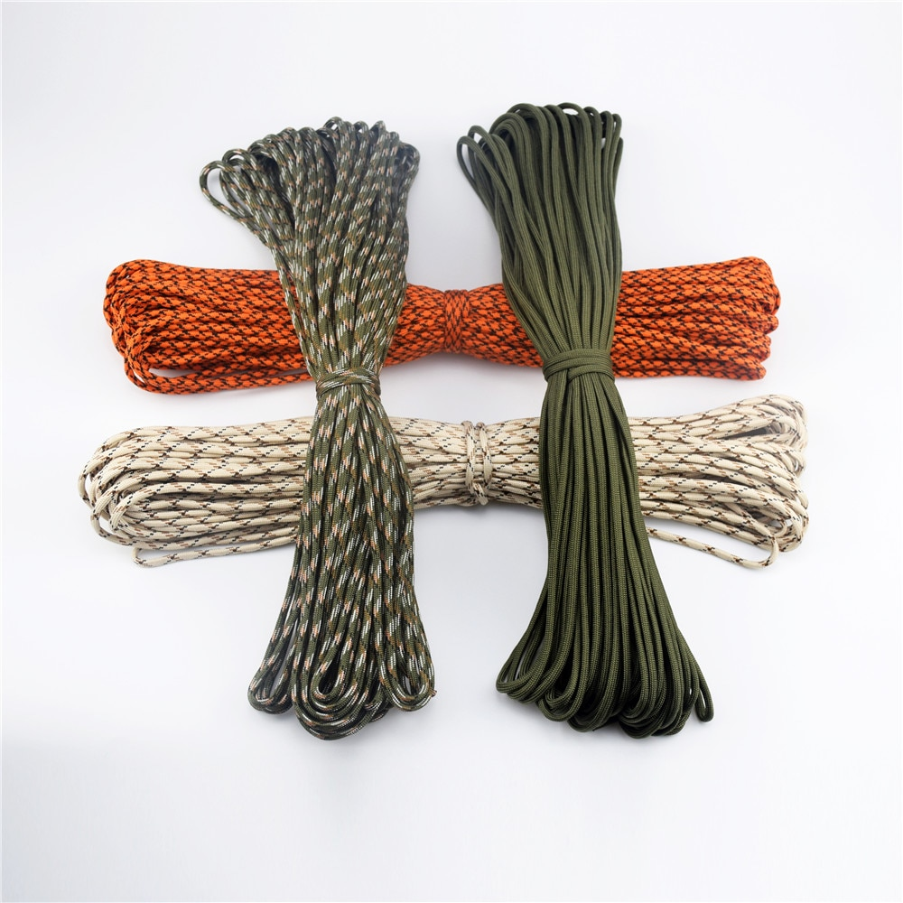 27 cores paracord 100 metros 4mm 7 fios corda 550 cabo de pára-quedas cuerda escalada mil especificação tipo iii paracorde corda ao ar livre