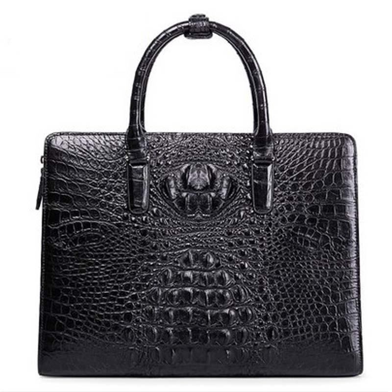 kafandi new Real crocodile leather man bag business men bag business men briefcase crocodile skin single shoulder man bag