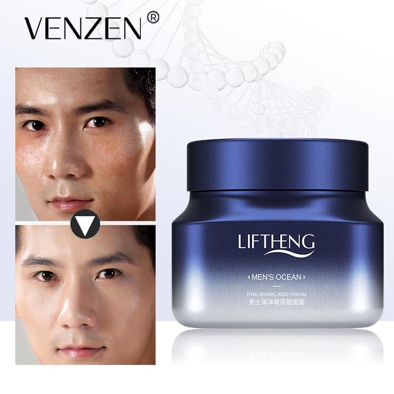 LIFTHENG Men's Face Cream Ocean Hyaluronic Acid Moisturizing Serum Anti-Aging Shrink Pores Deep Hydration Skin Care 50g