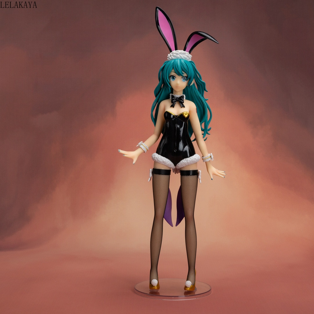 ¡44cm Japón Anime Hatsune Miku sueño cantante Sexy chica conejito Ver! Nativo vinculante a escala 1/4 de PVC MODELO DE figura de acción juguetes Brinquedos