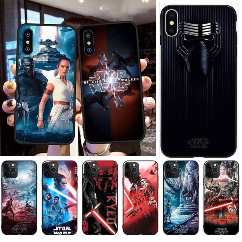 Funda de teléfono PENGHUWAN con diseño de Guerra de las galaxias, funda para iPhone 11 pro XS MAX 8 7 6 6S Plus X 5S SE XR