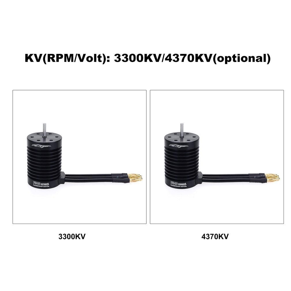 F540-V2 Motor Brushless Waterproof Sensorless For 1/10 RC Car Part 4370/3300KV enlarge