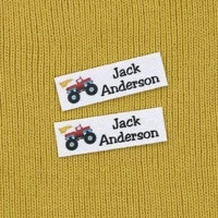 120 pieces custom logo labels personalized name tags for children iron on label custom clothing labels name tagsyt217