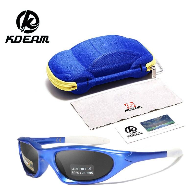 Kdeam2019 Новые поляризационные детские солнцезащитные очки, силиконовые детские очки для верховой езды оптом солнцезащитные очки