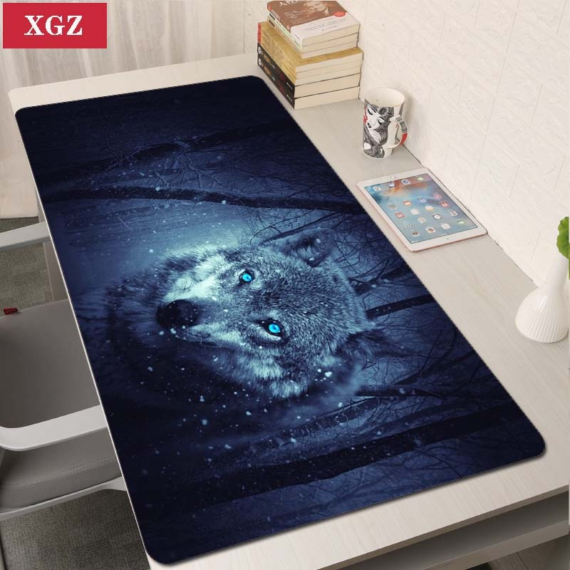 L Wolf Animal Game Mouse Pad Game Big Mouse Pad Game Player Computer Desk Pad Soft Laptop Notbook Mo