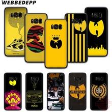 WEBBEDEPP Wu Tang Clan 소프트 삼성 S6 S7 가장자리 S8 S9 S10 플러스 J4 J6 J7 J8 Note8 9 10
