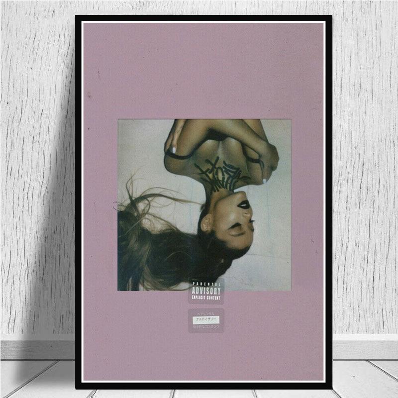 Ariana grande obrigado u próximo 2019 álbum pop música estrela poster imprime arte da parede pintura em tela fotos para sala de estar decoração casa