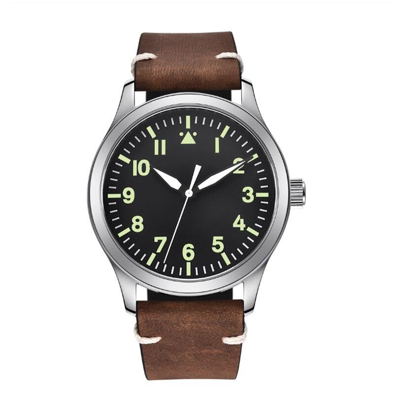 Correa de cuero de 40mm, caja de oro rosa, reloj de fecha de lujo para hombre, reloj nuevo, relojes mecánicos automáticos para hombres
