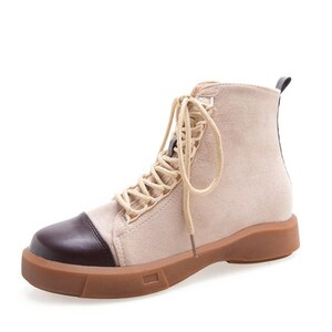 2020 autumn and winter new Korean sports shoes fashion casual women's shoes short boots hiking shoes large size 35-43